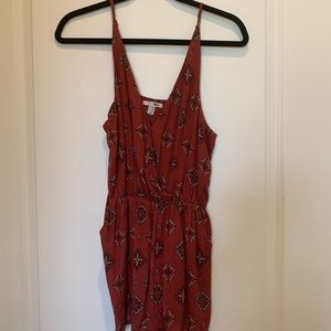 Red Amuse Pattered Romper